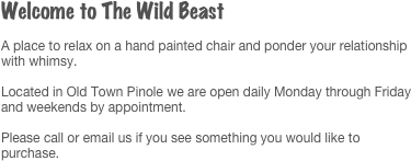 Welcome to The Wild Beast
